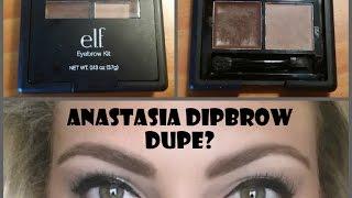 Review & Demo: e.l.f. Studio Eyebrow Kit....Anastasia Dipbrow Dupe???