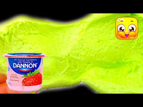Slime with Yogurt No Glue! How To Make Putty Really Easy!