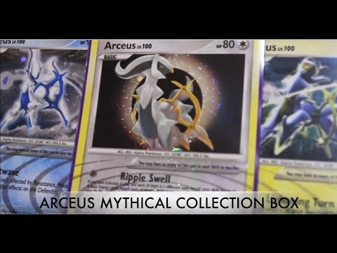 Arceus Mythical Collection Box & ARCEUS CODE GIVEAWAY!