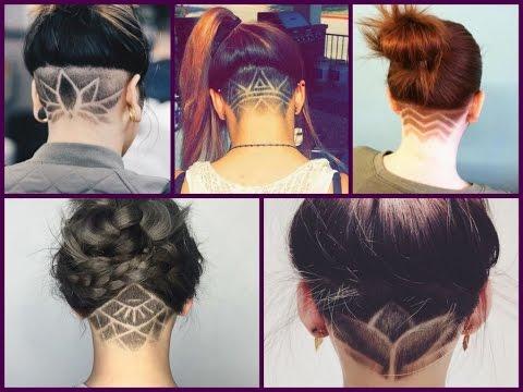 Trendy Haircuts 2018 - 50 Women's  Haircuts with back undercut design