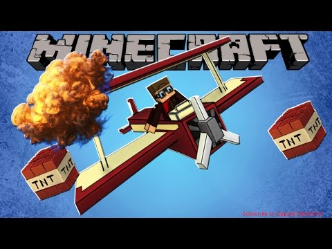 Minecraft 1.11: How to make a working bomber plane [No Mods][No Hacks][Easy][1min]