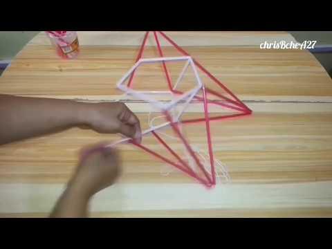 DIY# 73 Star/Xmas Lantern/Parol Made Of Drinking Straw #1