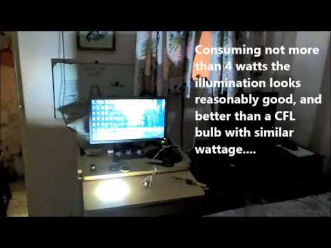 Testing a Simple LED Tubelight Circuit