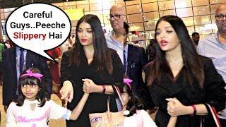 Aishwarya Rai Sweet Gesture Towards Reporters At Airport
