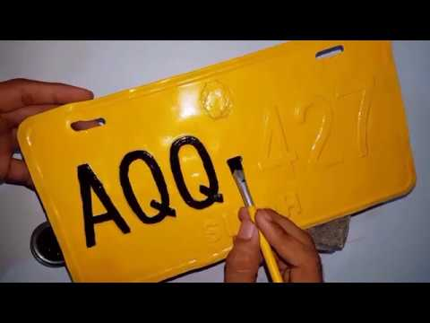 How to Restore/Paint Car Number Plate or License Plate | D Modified