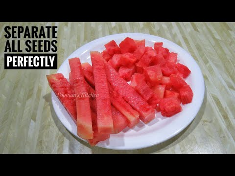 Easiest way to remove Watermelon Seeds/ How to remove Watermelon Seeds
