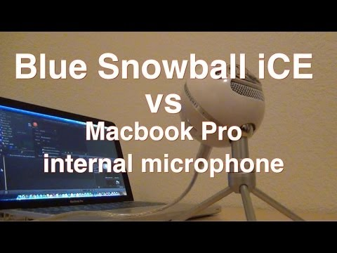 Blue snowball iCE vs macbook pro internal microphone 2014!