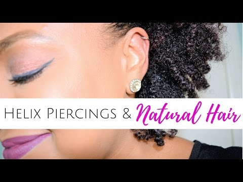 HELIX PIERCINGS & NATURAL HAIR? MY EXPERIENCE & ADVICE | THE CURLY CLOSET
