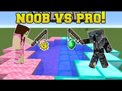 Minecraft: NOOB VS PRO!!! - FISHING FOR GOLD! - Mini-Game