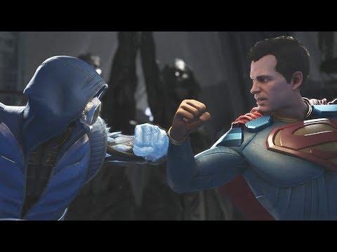 Injustice 2 SUB ZERO vs Superman All Intros and Clashes
