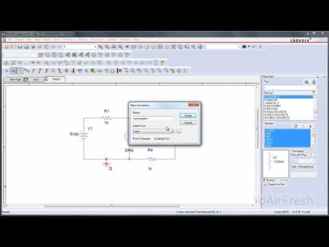 Design and simulate a basic DC circuit using PSpice