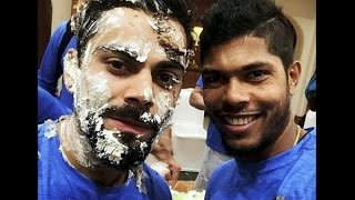 Virat Kohli birthday celebration.. Fun..Masti with Team India.