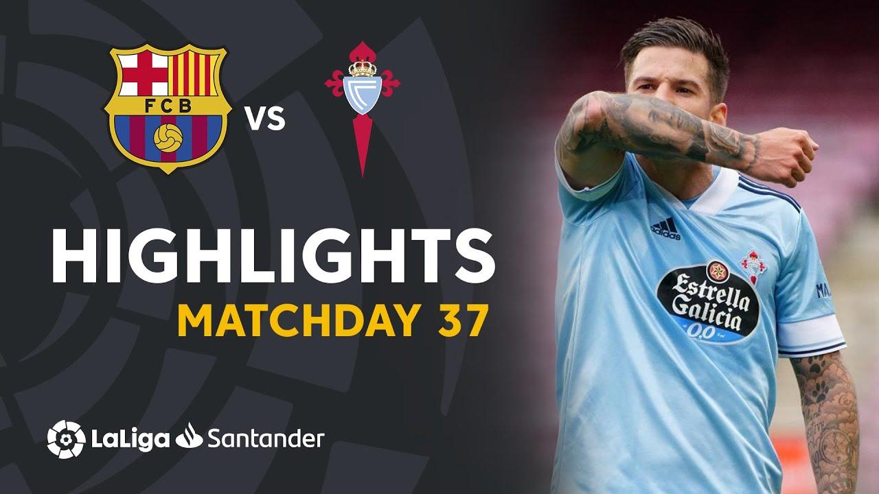 Resumen de FC Barcelona vs RC Celta (1-2)