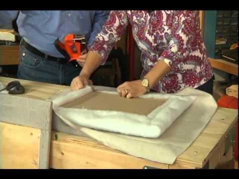 How to make an upholstered headboard.avi