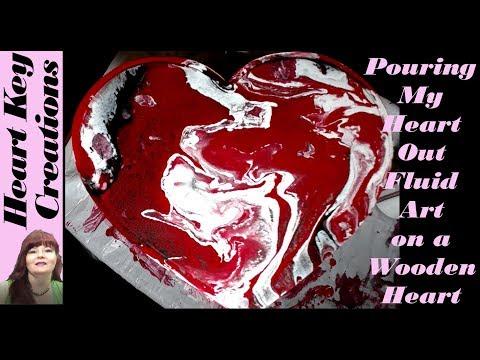 Fluid Art Poured Heart