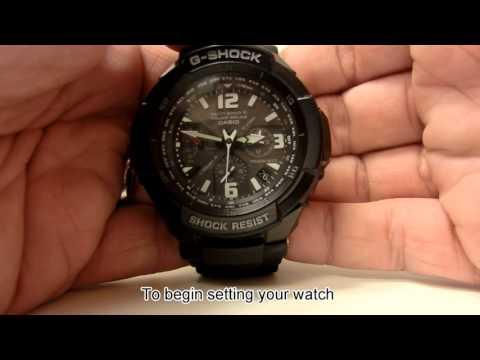 Setting Daylight Saving Time On Casio Analog Watch - GW3000