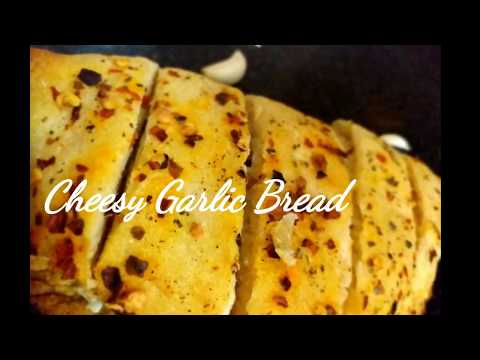 Cheese Garlic Bread Without Yeast