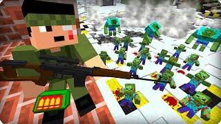 Нашёл выжившего снайпера [ЧАСТЬ 7] Зомби апокалипсис в майнкрафт! - (minecraft - Сериал)