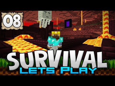 CONQUERING THE NETHER!!! - Survival Let's Play Ep. 08 - Minecraft 1.2 (PE W10 XB1)