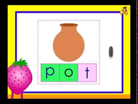 Kindergarten -  Writing simple words -  complete the word worksheet