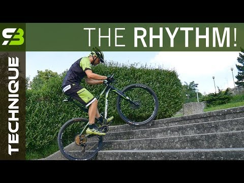 How To Ride Down And Up The Stairs On Your Bike. MTB Technique Exercise.