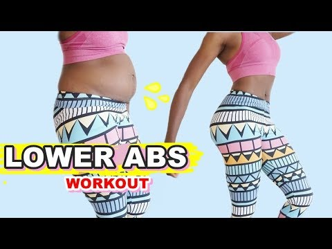 5 MIN LOWER ABS EXERCISES || Tone Your Belly Pooch Quick - Best Lower Belly Fat Home Workout Routine