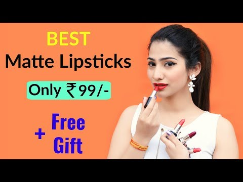 The BEST Matte Lipsticks for ₹99/-  || Win Free Gifts | Anaysa