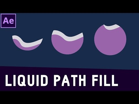 Tutorial 03: Liquid Text Fill with a Path in After Effects ✔