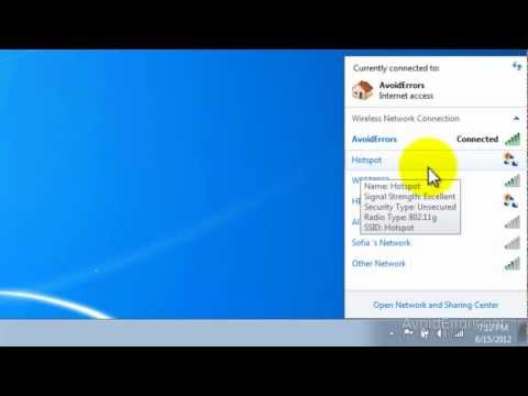 Turn Your Windows 7 Laptop into a WiFi Hotspot