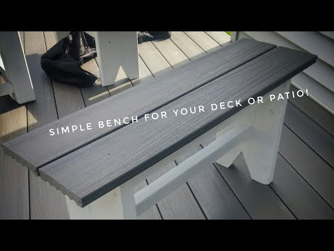 DIY Outdoor Benches - Made With Composite Deck Boards