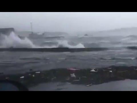 Storm Gertrude - Shetland Islands