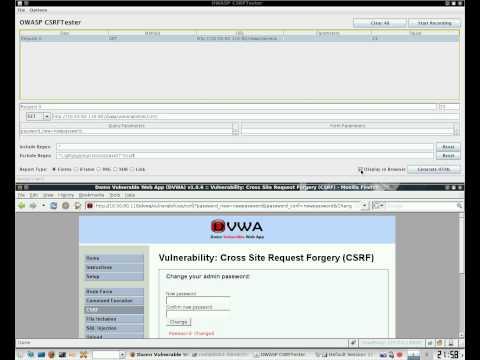 Damn Vulnerable Web App - CSRF with OWASP CSRFTester.
