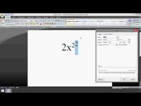 Microsoft Word: How to Make a Double Superscript