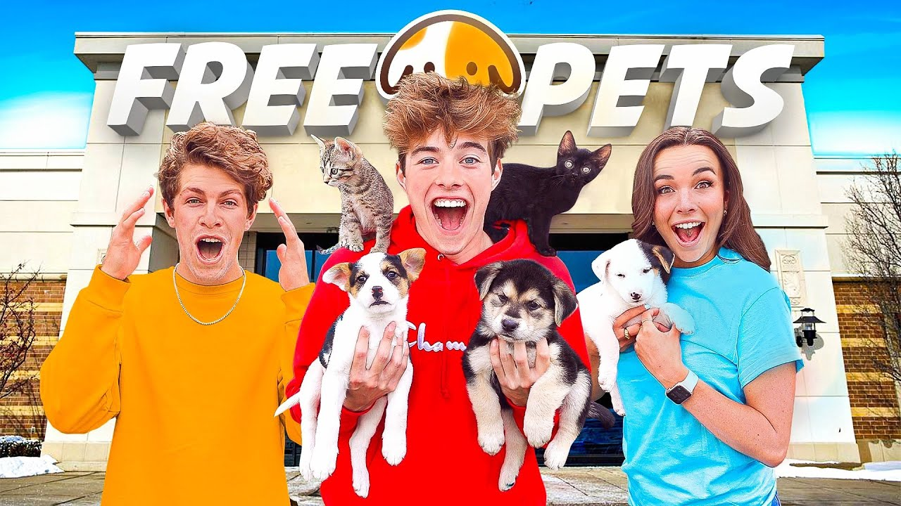 OPENED A FREE PET STORE!!