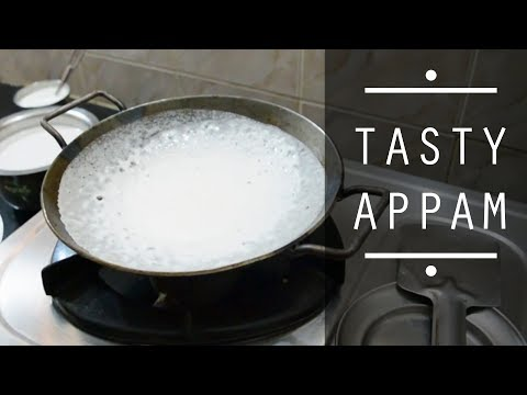 Appam Recipe in Tamil | Appam with Coconut Milk | சுவையான ஆப்பம் ரெசிபி