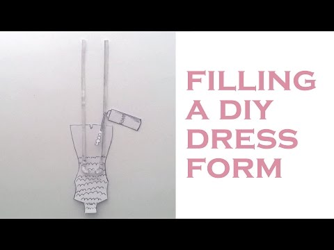 DIY Body Double Dress Form (part 2/4) : filling a plaster & duct tape  dress form mold