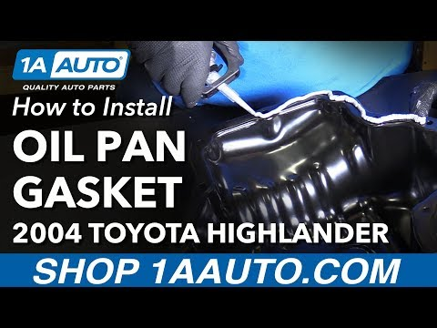 How to Install Replace Oil Pan Gasket 2004-07 Toyota Highlander L4 2.4L