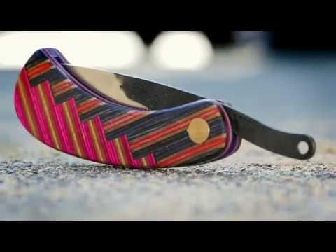 making a pocketknife from broken skateboards