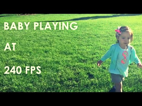 BABY PLAYING at 240FPS!