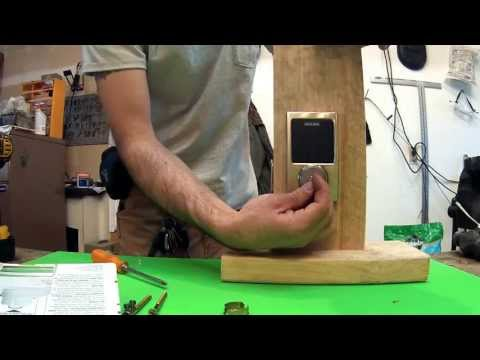 How To Install A Schlage Electronic Touchscreen Deadbolt