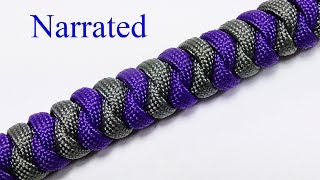 Paracord Tutorial: 2 Color Snake Knot Bracelet With Mad Max Closure