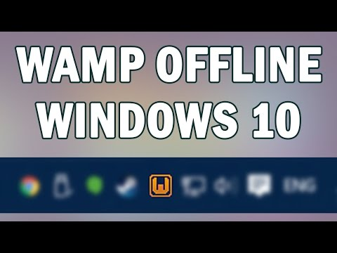 [Solved] WAMP Yellow Icon Windows 10