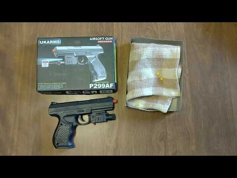 HOW TO LOAD PLASTIC BBs INTO $5 UKARMS P299AF AIRSOFT BB GUN WITH LASER