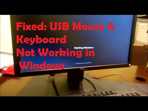 Fixed USB Mouse & Keyboard not working