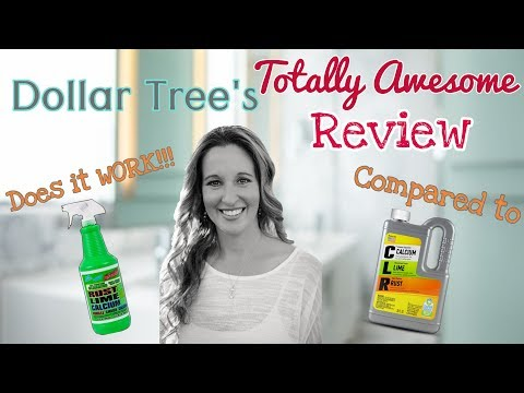 Dollar Tree's TOTALLY AWESOME Rust, Lime & Calcium Remover | Dollar Tree Product Review