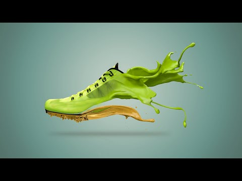 How to make Shoe Paint Splash in Photoshop CC