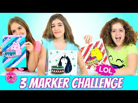 3 Marker Challenge - CraftyGirls!