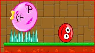 НОВЫЙ КРАСНЫЙ ШАРИК и ЕГО ДЕВУШКА РОЗОВЫЙ ШАР в  игре красный шарик  для детей про New Red Ball 4