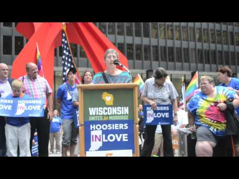 Progress Illinois: Indiana Resident Speaks At Marriage Equality Rally In Chicago