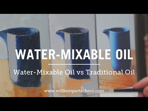 Water-Mixable Oils vs Traditional Oil Paint Review & Techniques (HD)